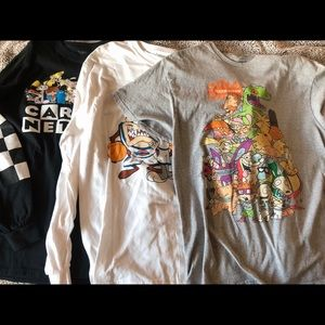 Bundle of cartoon graphic shirts